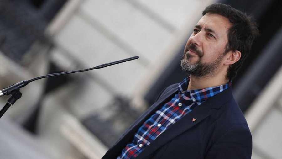 Antón Gómez-Reino, candidato de Galicia en Común a presidir la Xunta gallega.