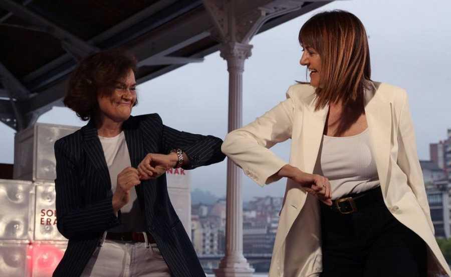 Calvo y Mendia en apertura de campaña en Bilbao
