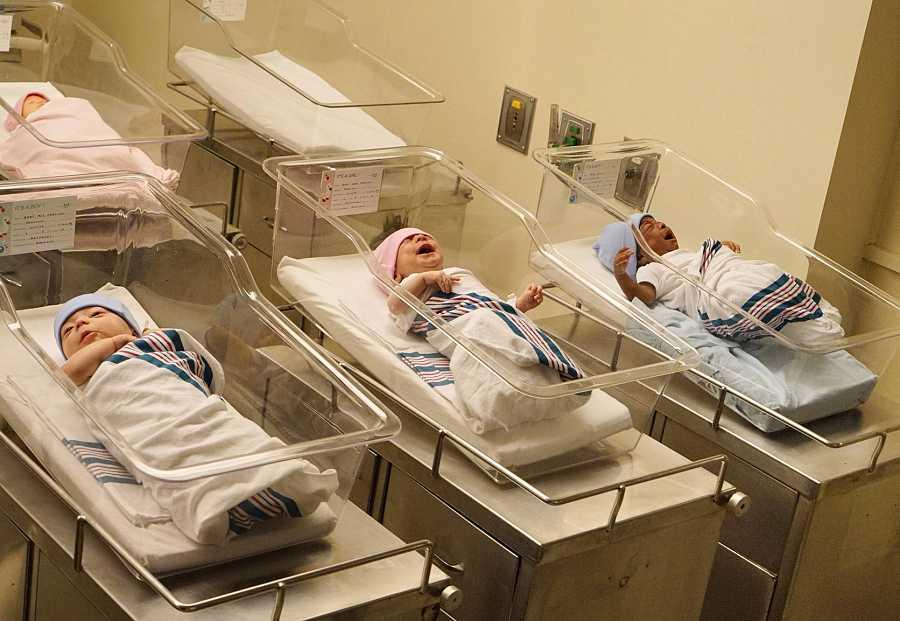 Kate, Kevin y Randall, recién nacidos