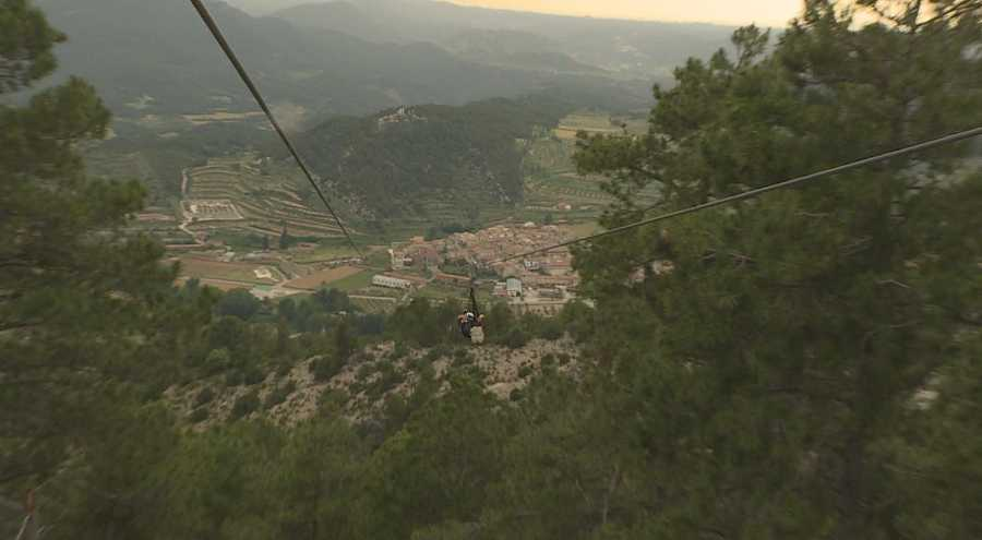 Tirolina en Teruel