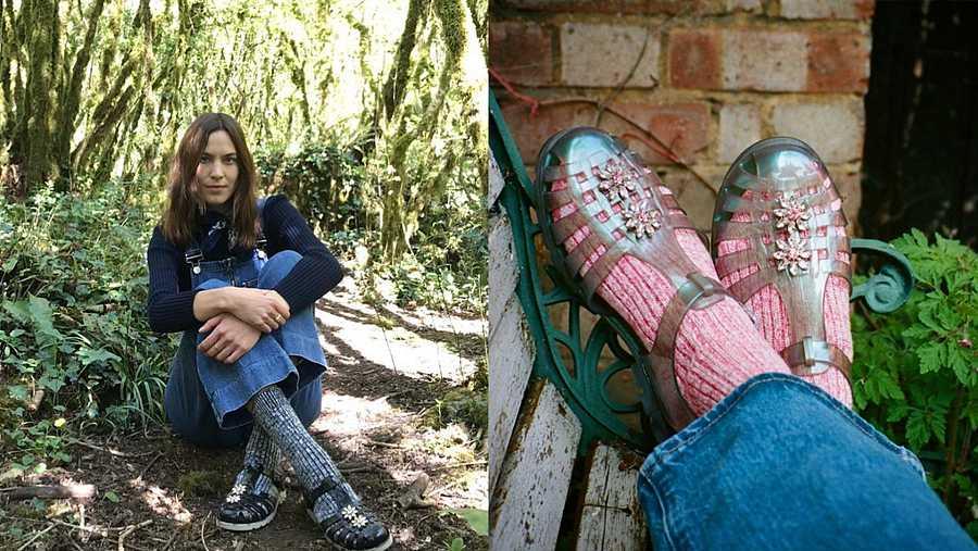 Alexa Chung comenzó en mayo su campaña por las cangrejeras, herencia del verano pasado