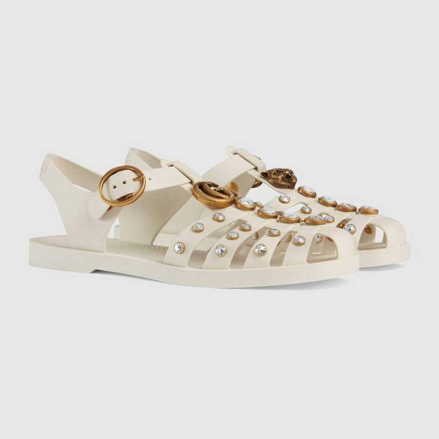 Cangrejeras con apliques de Gucci, verano de 2019