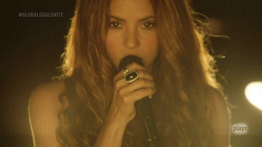Shakira, cantando desde Barcelona para el Global Goal