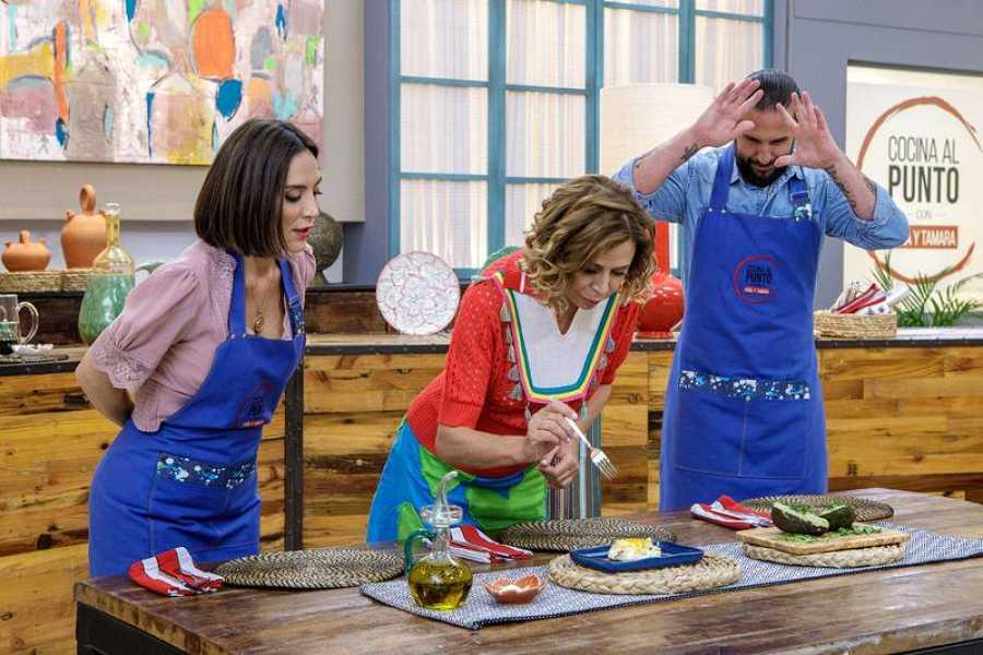 Ágatha Ruíz de la Prada, invitada de uno de los programas de 'Cocina al punto con Peña y Tamara'