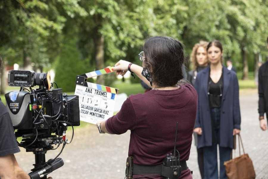 'Ana Tramel. El juego', durante el rodaje