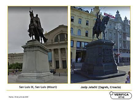 Los dos monumentos erigidos como homenaje a sendos personajes históricos en Misuri y Zagreb