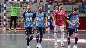 Los jugadores del Movistar Inter celebran el primer gol marcado al Viña Albali Valdepeñas en la Final por Pito.