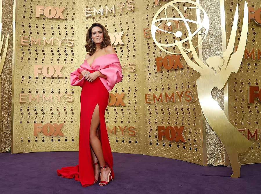 Mandy Moore en la 71ª edición de los Premios Emmy, donde estaba nominada a mejor actriz de serie dramática (2019)