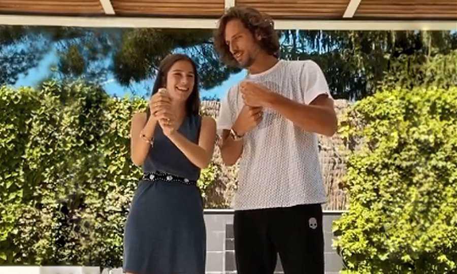 Feliciano López y Sandra Gago anuncian con confeti que pronto serán cuatro