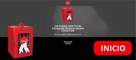 Captura de la página imitando la imagen corporativa de Coca-Cola para robar los datos de los internautas.