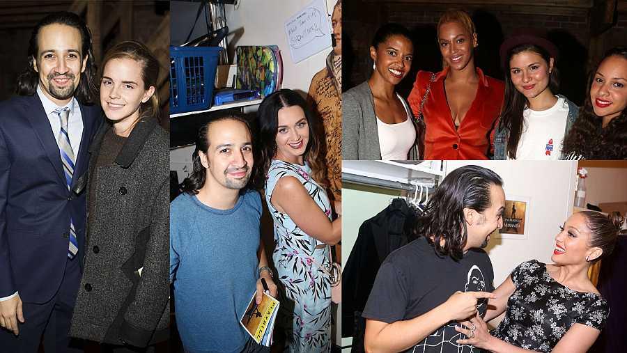Emma Watson, Katy Perry, Beyoncé o Jennifer López, entre los famosos que fueron a ver 'Hamilton'