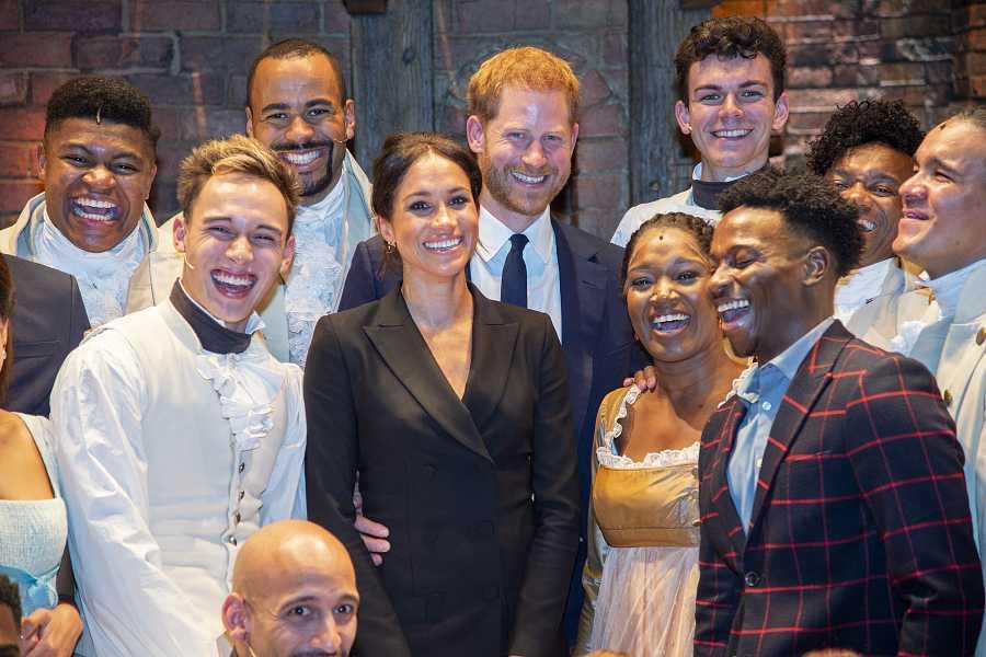 Meghan Markle y el Príncipe Harry acudieron a la producción de Hamilton en Londres