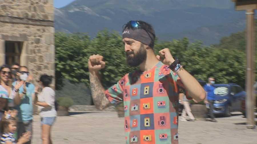 Legada del atleta Roberto Rebollo a Santo Toribio, meta de su ultramaratón contra la enfermedad de Crohn