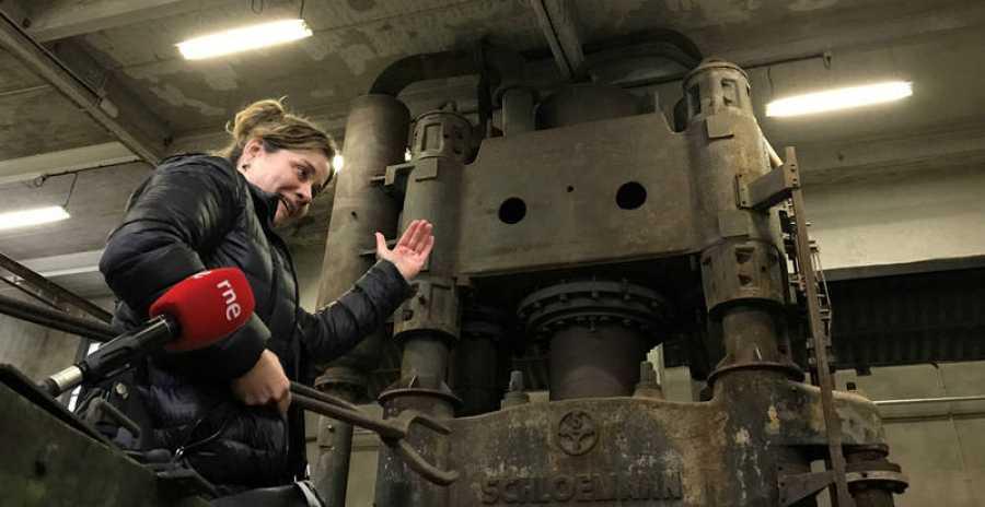 Olatz Conde, de la fundación Lenbur, trabaja para la recuperación y difusión del patrimonio industrial