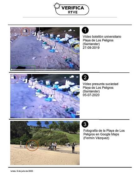 Comparativa de imagenes capturadas en los vídeos publicados este domingo y hace un año.