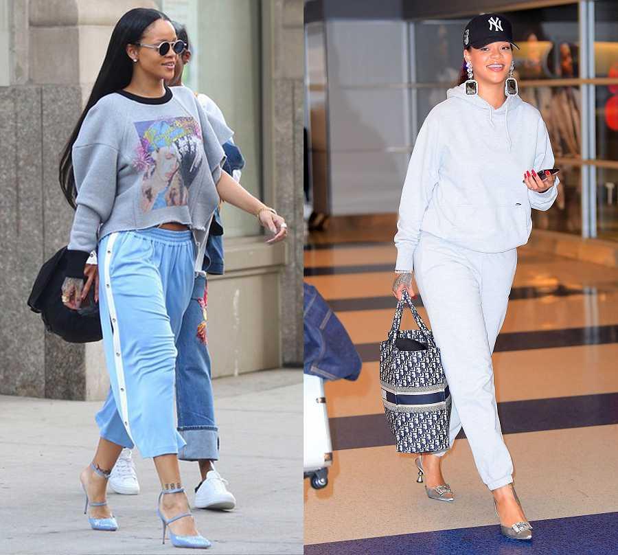 Rihanna es una de las principales embajadoras de este 'look', muy común en su 'street style'