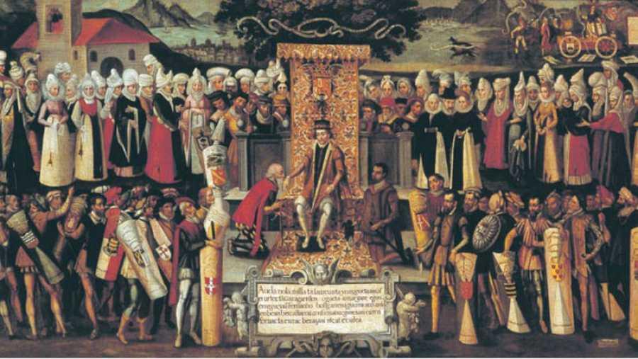 Fernando el Católico jurando los fueros de Vizcaya en 1476
