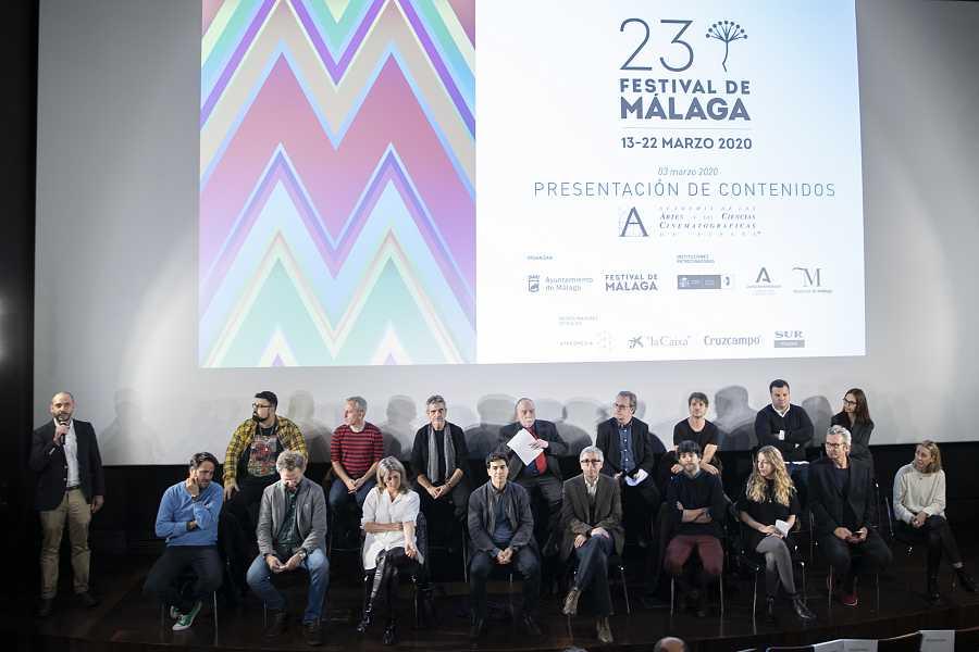 Presentación de la 23ª edición del Festival de Málaga en Madrid el 3 de marzo de 2020, 12 días antes del confinamiento