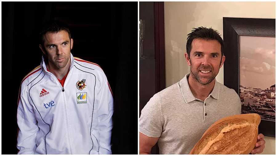 Carlos Marchena durante el mundial de Sudáfrica 2010 y diez años después