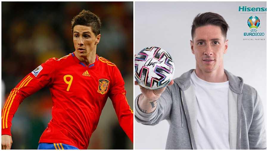 Fernando Torres durante el mundial de Sudáfrica 2010 y diez años después
