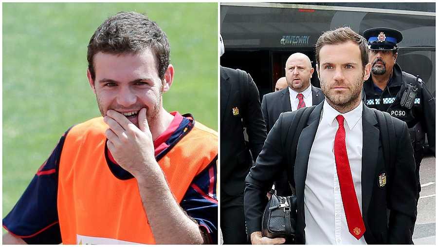 Juan Mata durante el mundial de Sudáfrica 2010 y diez años después