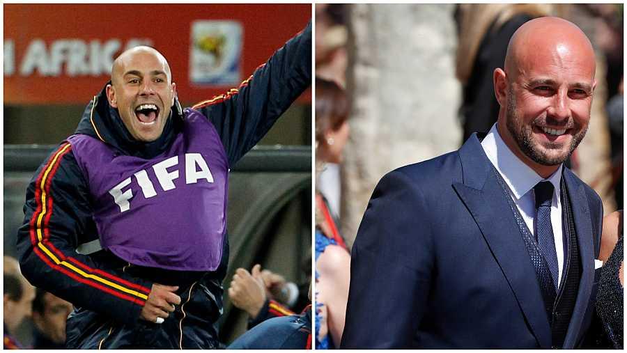 Pepe Reina durante el mundial de Sudáfrica 2010 y diez años después