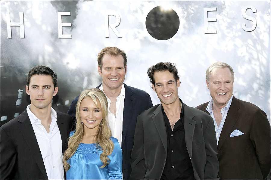 El reparto de 'Héroes' en la presentación de la segunda temporada de la serie, en 2007