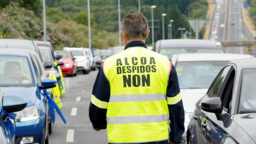 Protesta de los trabajadores de Alcoa