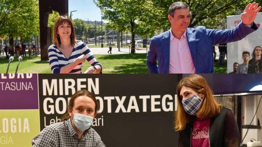 Elecciones vascas: Pedro Sánchez y Pablo Iglesias apoyan a las candidatas del PSE y Elkarrekin Podemos