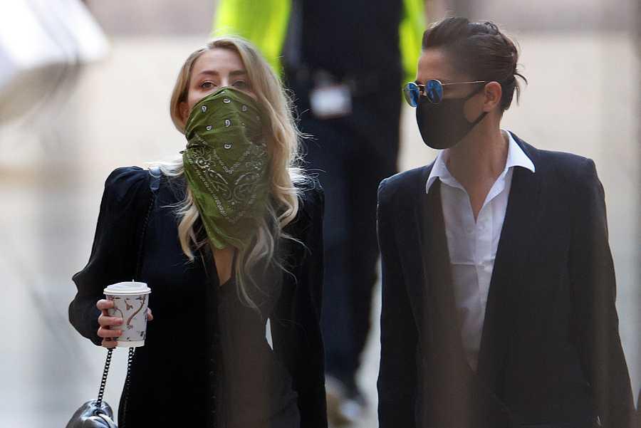 Amber Heard llega a la corte suprema de Londres para escuchar el juicio de Johnny Depp contra The Sun