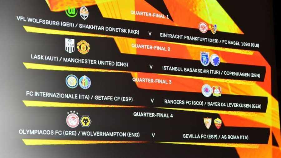 Emparejamientos de cuartos de final de la Europa League.