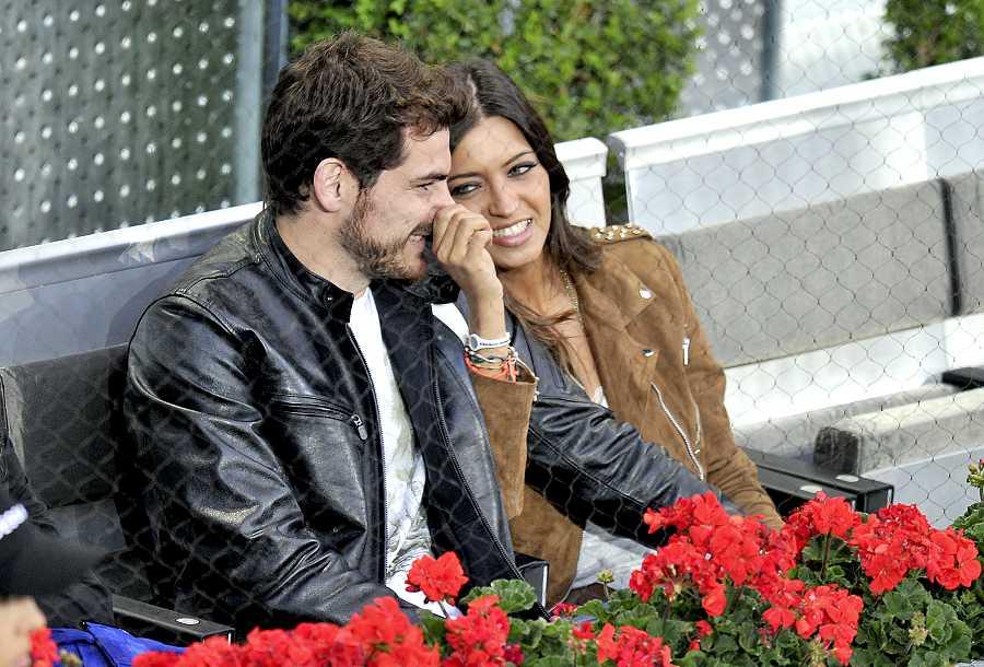 Íker y Sara durante el Masters Series de Madrid en 2010