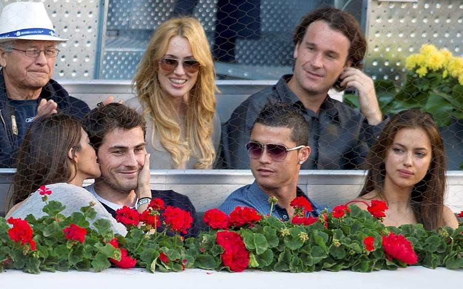 Iker y Sara junto a Cristiano Ronaldo e Irina Shayk en la final de la 10 edición del Masters de Madrid