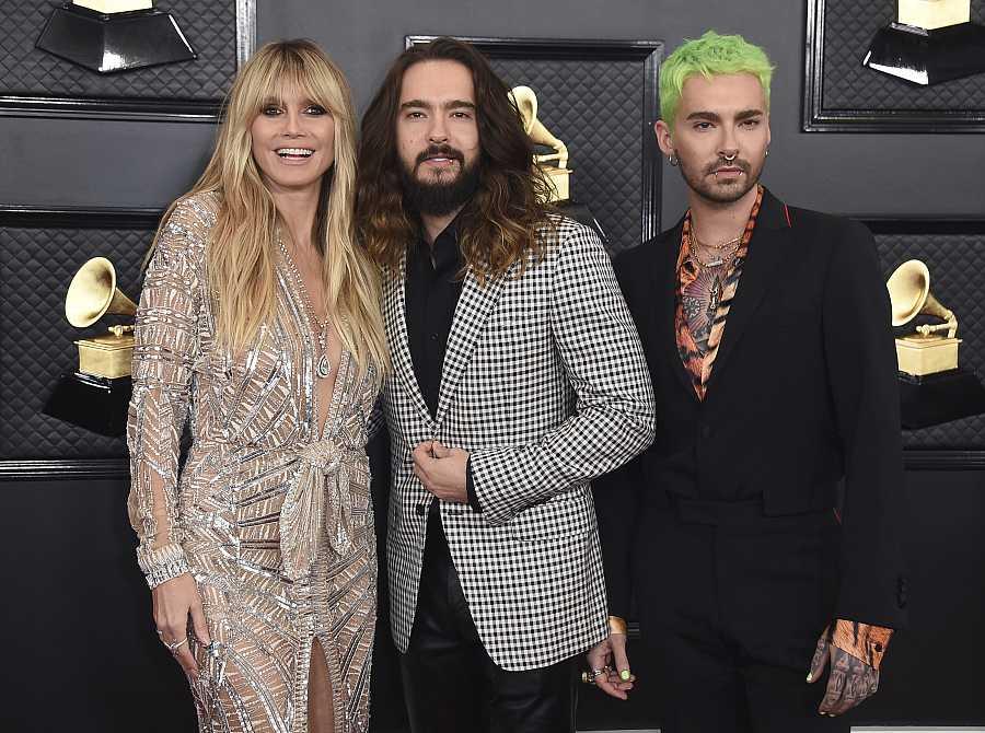 Heidi Klum, Tom Kaulitz y su hermano gemelo, Bill Kaulitz
