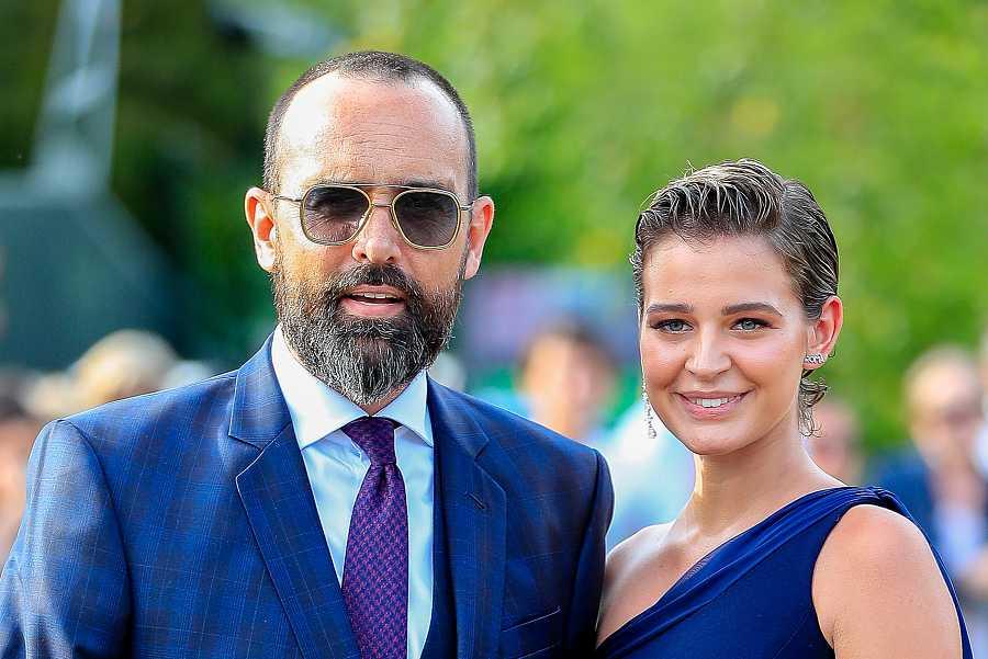Laura Escanes y Risto Mejide en Santander, en la boda de María Pombo y Pablo Castellano