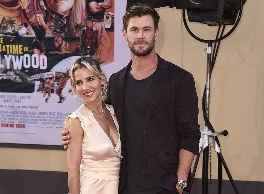 Chris Hemsworth y Elsa Pataky en la premiere de la película 'Érase una vez en Hollywood'