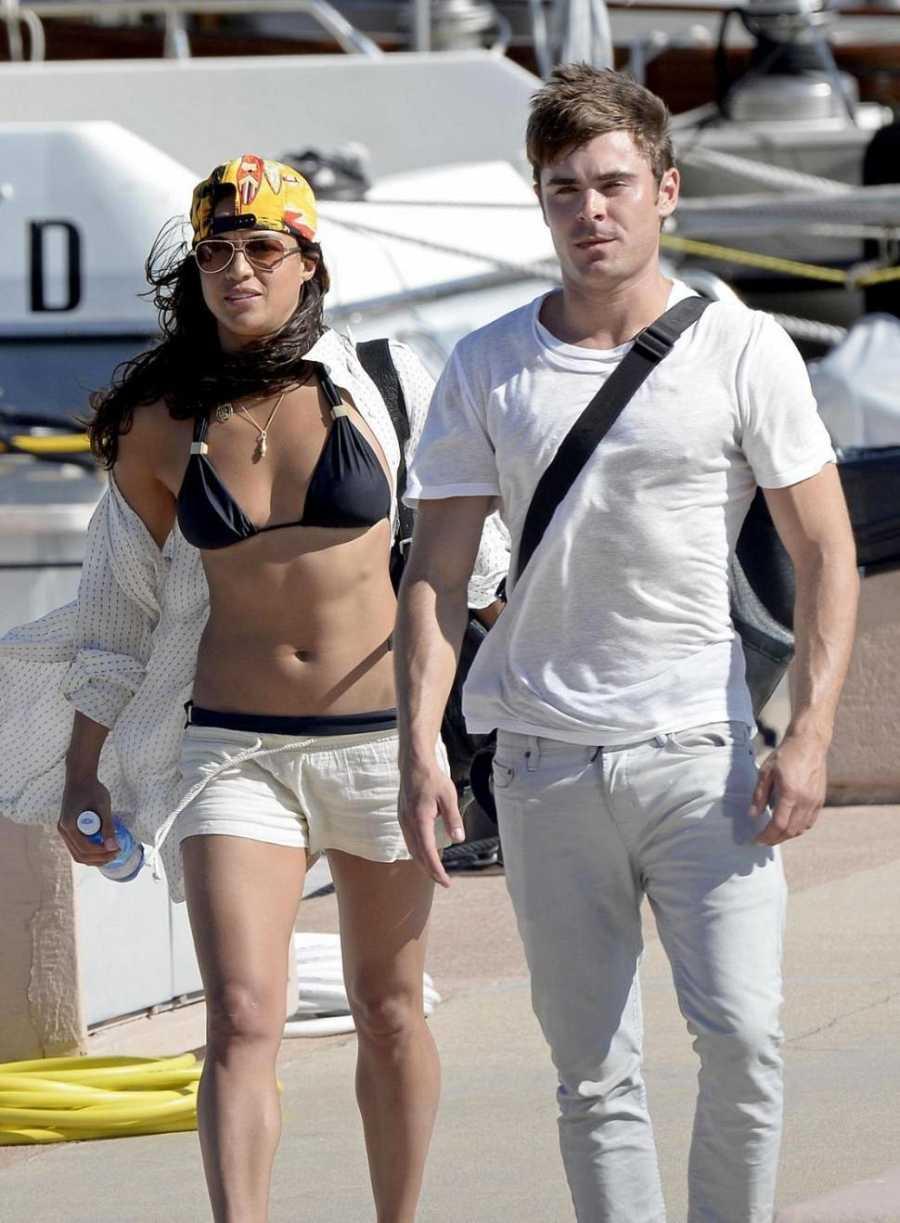Michelle Rodriguez y Zac Efron compartieron un verano acalorado en Cerdeña