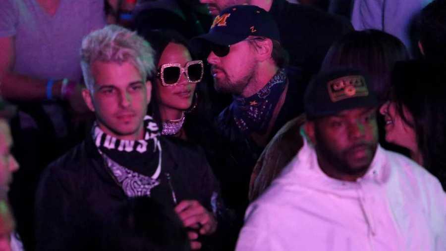 Leonardo DiCaprio y Rihanna, pillados en actitud cómplice