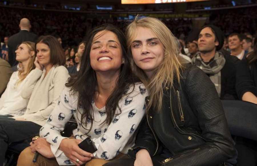 Michelle Rodriguez y Cara Delevigne estuvieron juntas en 2014