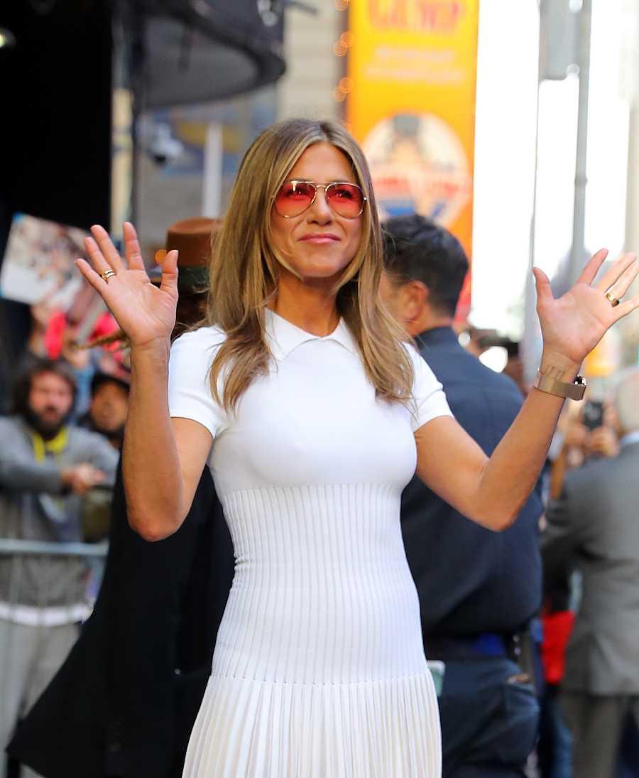 La actriz Jennifer Aniston en la ciudad de Nueva York