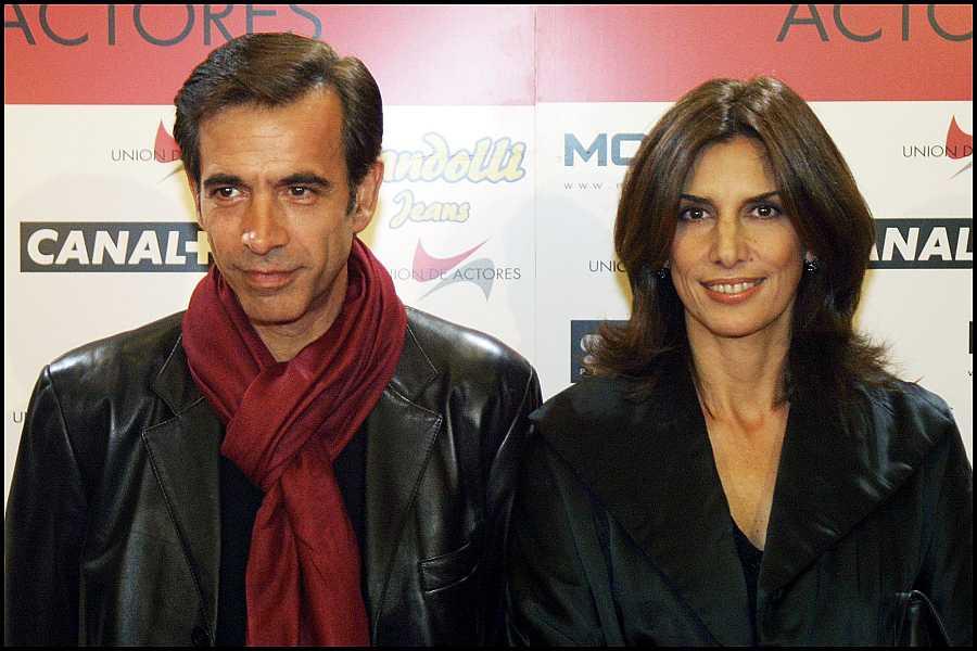 Los actores Imanol Arias y Pastora Vega durante los Premios Unión de Actores en 2003