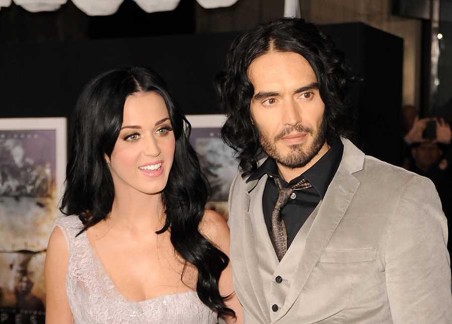 La cantante Katy Perry y el cómico y presentador Russell Brand