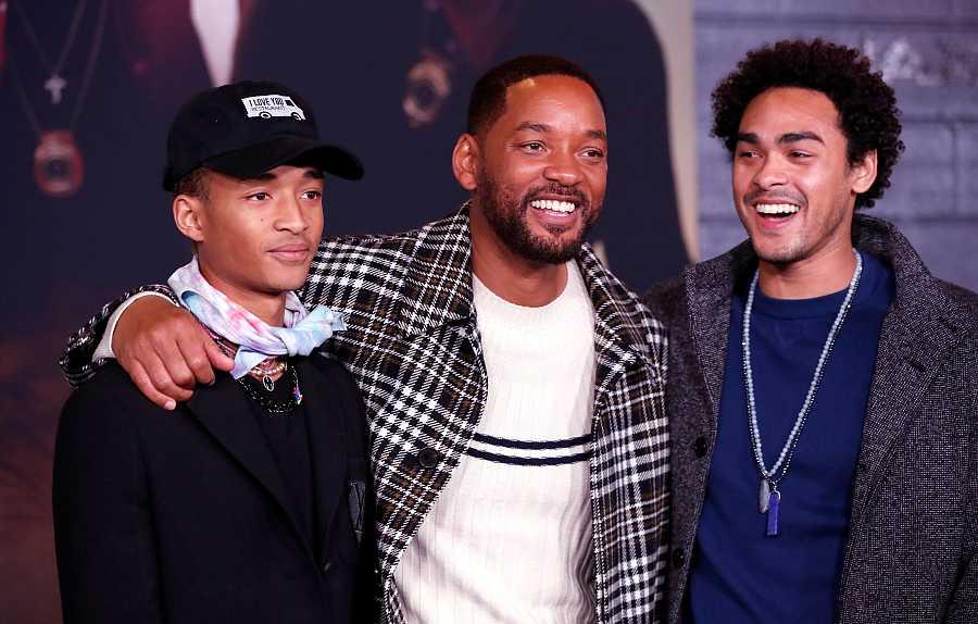 Will Smith con sus hijos Jaden y Trey