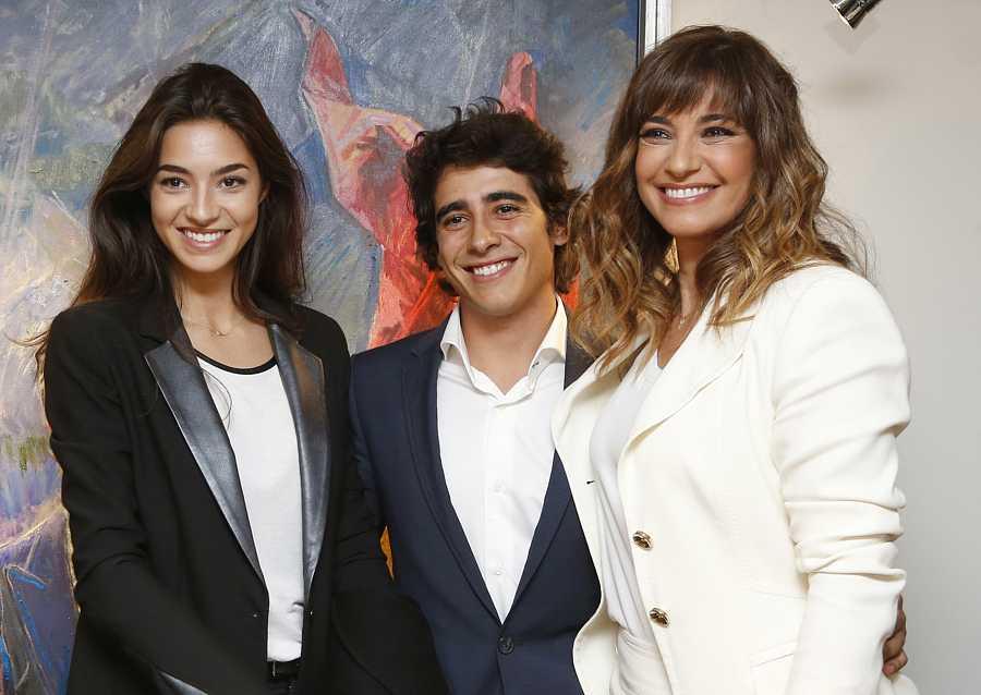 Mariló Montero con sus hijos Alberto y Rocío