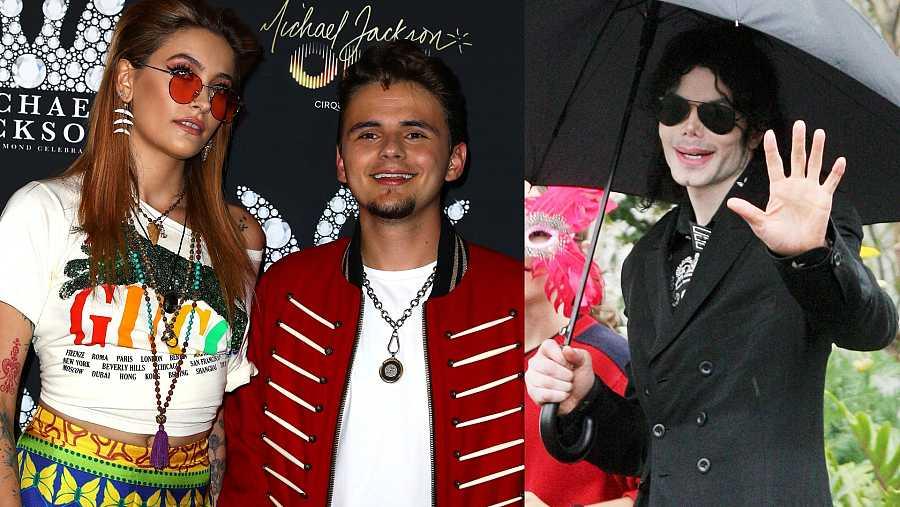 Paris y Prince, hijos de Michael Jackson