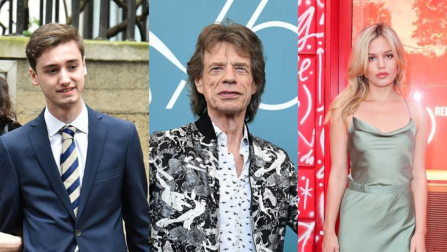 Mick Jagger tiene a los veinteañeros Georgia May y Gabriel Luke