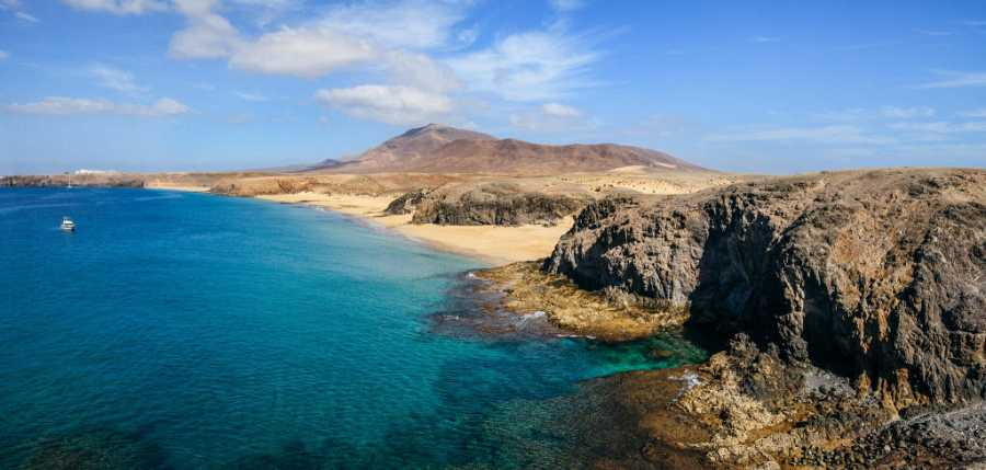 Playa Papagallo, en Lanzarote
