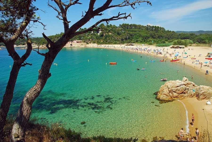 Playa de Castell (Palamós, Girona)