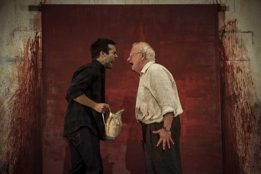 Ricardo Gómez y Juan Echanove en 'Rojo'
