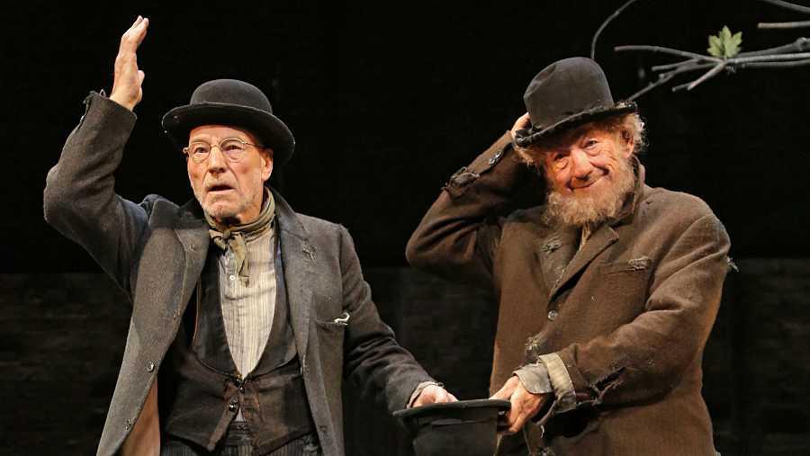 Ian McKellen y Patrick Stewart en 'Esperando a Godot'